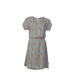 Retro-kleding-jurk met streepjes en limoenen Froy & Dind
