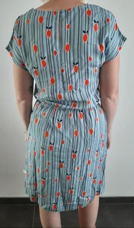 Retro-kleding-jurk met streepjes en limoenen_back Froy&Dind