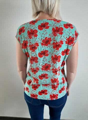 Retro-kleding-top v-neck mint_back ZILCH