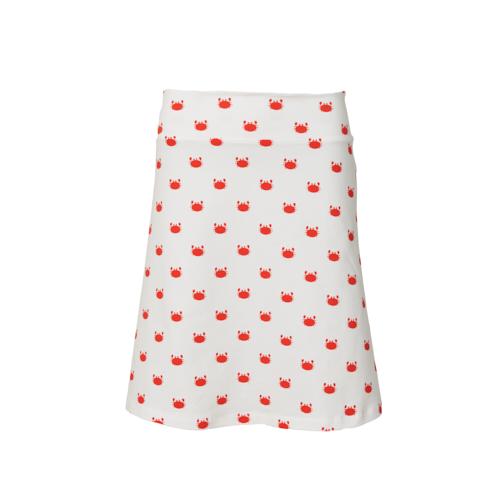 Retro-kleding-witte rok met krabjes Froy & Dind