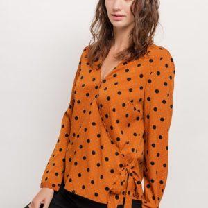 lovieco-retro-blouse-bolletjesprint-front