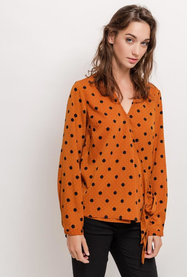 lovieco-retro-blouse-bolletjesprint-front
