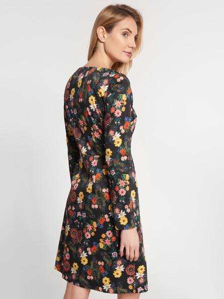 wowtogo-retro-jurk-donker-bloemen-zijkant