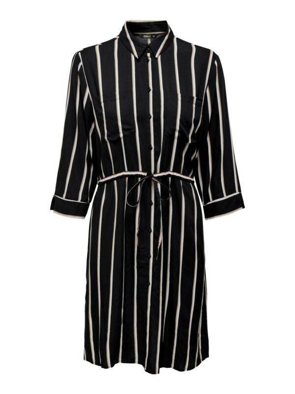 only-retro-jurk-zwart-strepen-voor