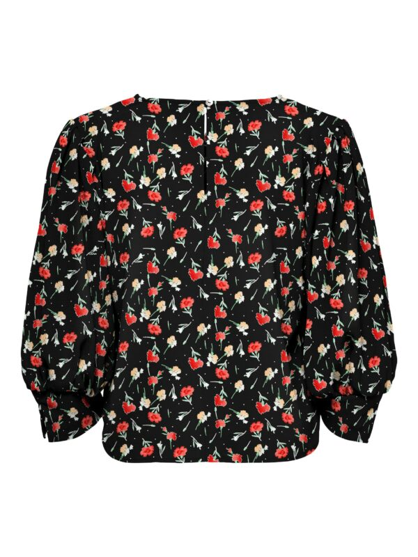 Retro-Only-top-blouse-black-small-flower-na-leverancier