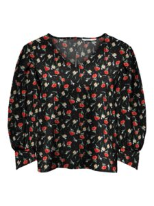 Retro-Only-top-blouse-black-small-flower-voor-leverancier