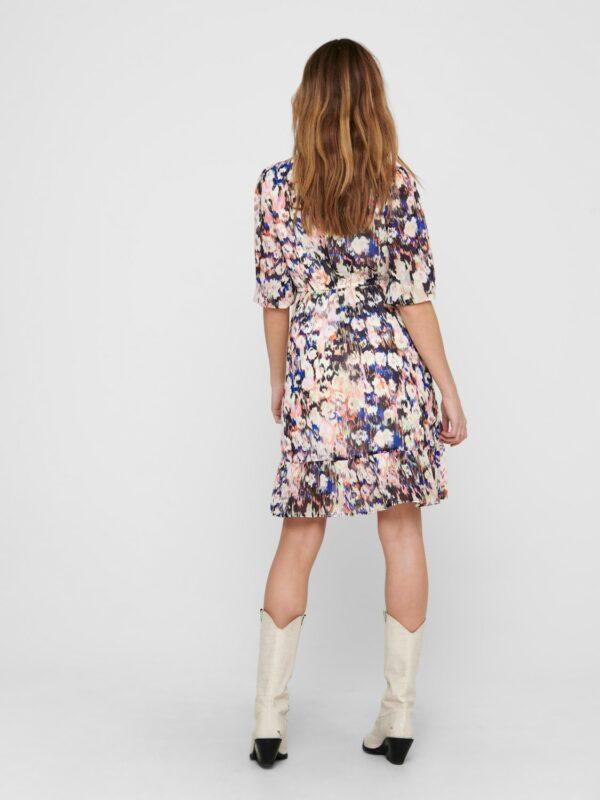 Retro-Only-jurk-pastel-multi-print-achter-model