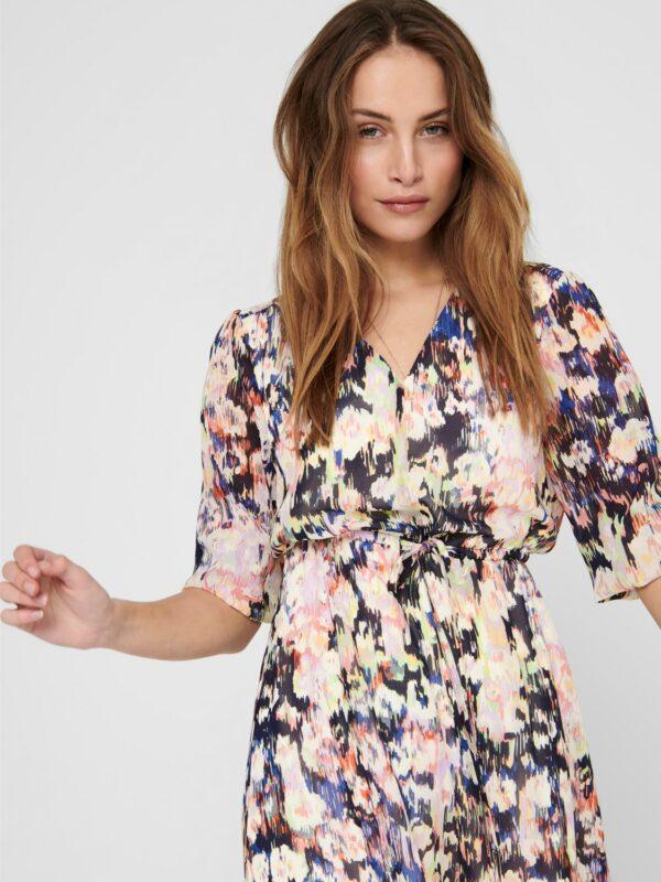 Retro-Only-jurk-pastel-multi-print-detail-voor-hoofd