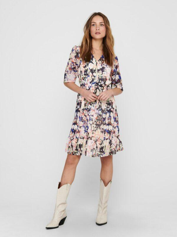 Retro-Only-jurk-pastel-multi-print-volledige-voorzijde