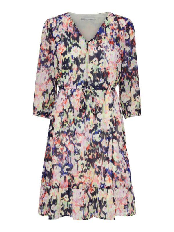Retro-Only-jurk-pastel-multi-print-voor