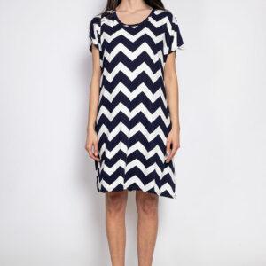 Retro-world-fashion-jurk-zig-zag-blauw-modelvoor