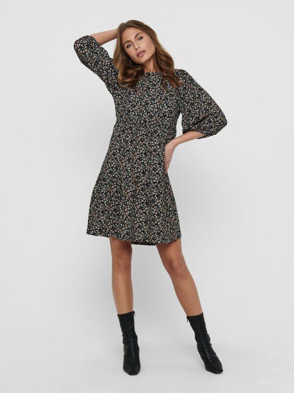 Retro-Only-jurk-kort-black-ditsy-model-voor-speels