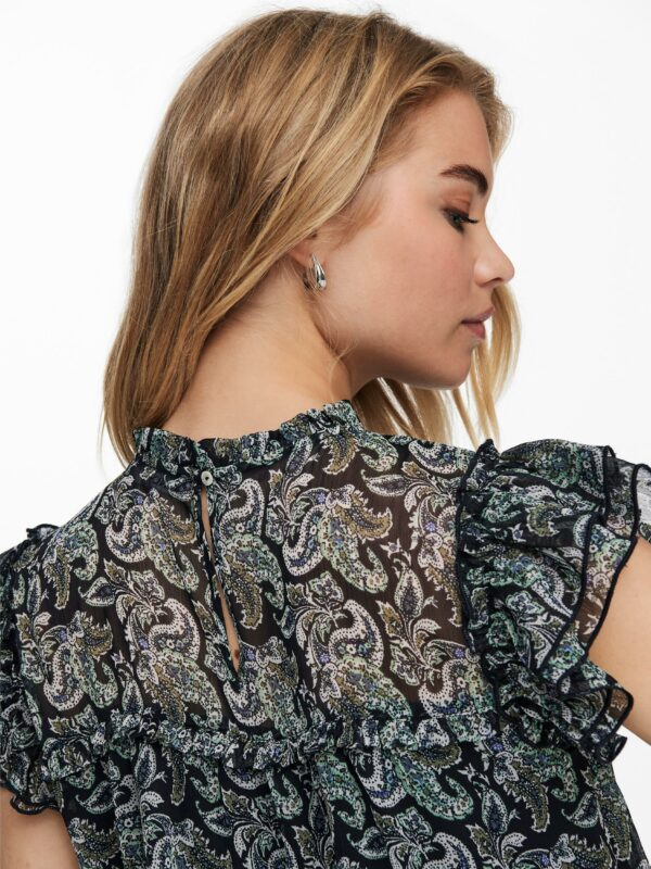 Retro-Only-top-blouse-night-sky-detail-achter-model