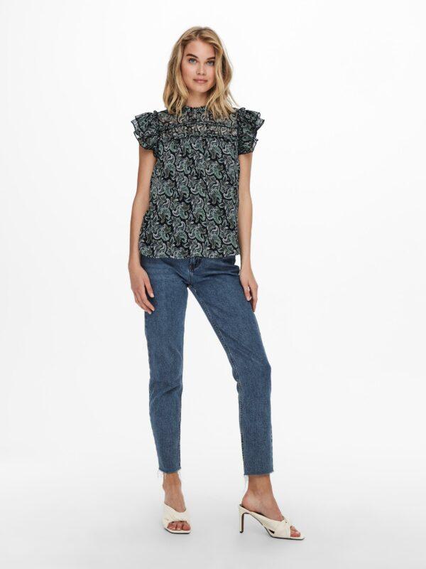 Retro-Only-top-blouse-night-sky-voor-model