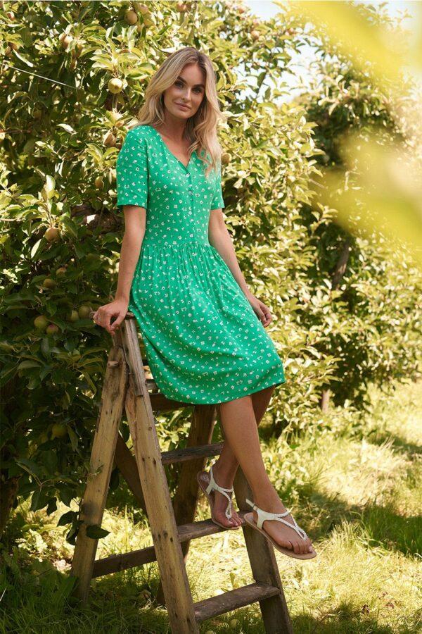 Retro-Smashed-Lemon-jurk-floret-green-model