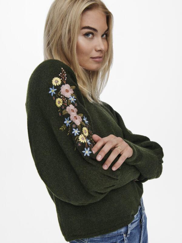 Retry-Only-donker-pullover-fantasie-model-zijkant